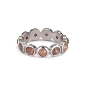 Rosecut Diamond Ring, 18 karat hvidguld