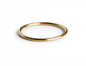 Simple Ring, forgyldt sterlingsølv