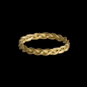 Small Braided Ring, 18 karat guld