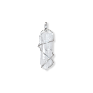 F+E Crystal Pendant, sterling sølv