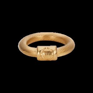 Big Salon Ring, forgyldt sterling sølv