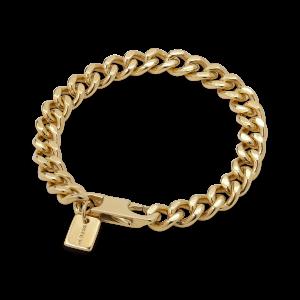 F+E Chain Bracelet, forgyldt sterling sølv