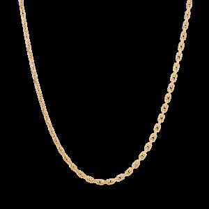 F+E Chain Necklace, forgyldt sterling sølv