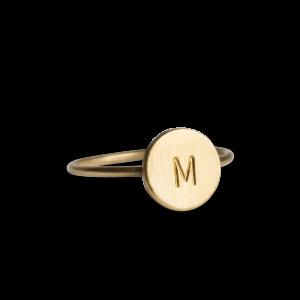Lovetag Ring, forgyldt sterlingsølv