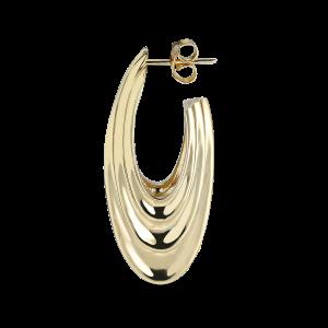 Sculpture Earring, forgyldt sterling sølv