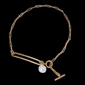Salon Pearl halskæde, forgyldt sterling sølv