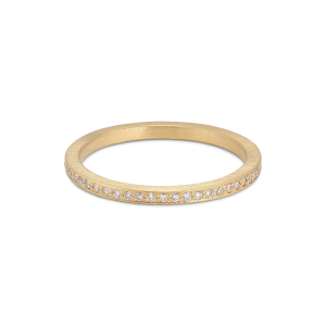 Small alliance ring, 18 karat guld, 0.005 ct diamanter