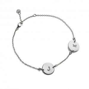 Lovetag Bracelet with 2 Lovetags, sterlingsølv