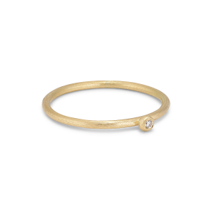 Princess ring, 18 karat guld, 0.01 ct diamant, kuglefatning