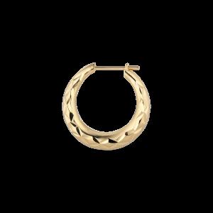 Reflection Rhombus earring, forgyldt sterlingsølv