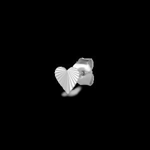 Reflection Heart Stud, sterlingsølv