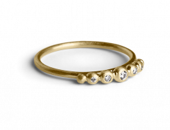 Big Diadem Ring, forgyldt sterlingsølv