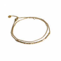 Bead Bracelet with Chain, forgyldt sterlingsølv