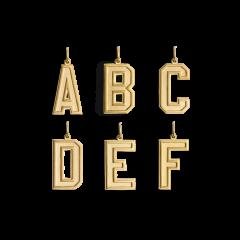 Letter Pendant, forgyldt sterlingsølv