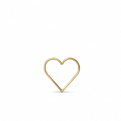 Heart of Love Twist Ørering, 18 karat guld