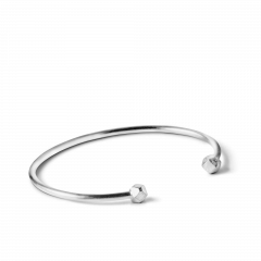 Simple Bead Bracelet, sterling sølv