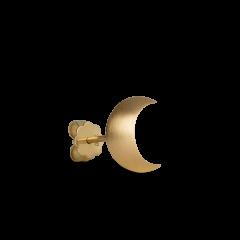 Half Moon Stud ørestikker, 18 karat guld