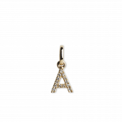 "Letter Pendant ""A""  with Diamonds, 18 karat guld"