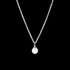 Kombination af Anchor Chain og Small Pearl Pendant, sterlingsølv