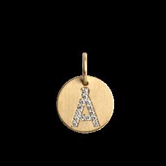 "Lovetag Pendant ""Å"" with Diamonds, 18 karat guld"