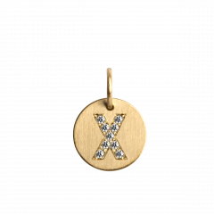 "Lovetag Pendant ""X"" with Diamonds, 18 karat guld"