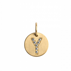 "Lovetag Pendant ""Y"" with Diamonds, 18 karat guld"
