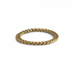 Big Chain Ring, 18 karat guld