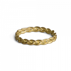 Small Braided Ring, 18 karat guld