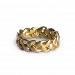 Big Braided Ring, forgyldt sterlingsølv