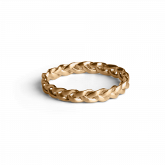 Small Braided Ring, forgyldt sterlingsølv