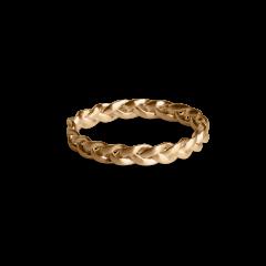 Small Braided Ring, forgyldt sterlingsølv