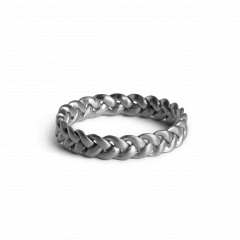 Medium Braided Ring, sterlingsølv