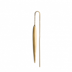 Chain Earring with 1 Long Leaf