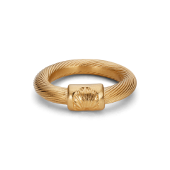 Big Salon Ring, forgyldt sterling sølv