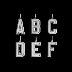 Letter Pendant, sterlingsølv