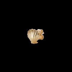 Salon Scallop Front ørestik, forgyldt sterlingsølv
