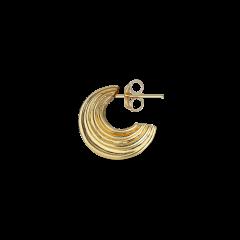 Small Sculpture Earring, forgyldt sterling sølv