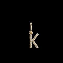 "Letter Pendant with Diamonds ""K"", 18 carat gold"