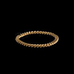 Small Chain Ring, forgyldt sterlingsølv