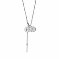 Combination of a Faceted Anchor Chain and 3 medium Lovetag, sterling silver