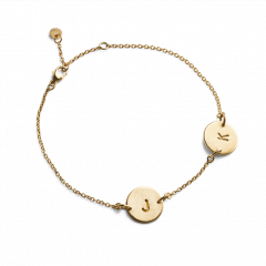 Lovetag Bracelet with 2 Lovetags, forgyldt sterlingsølv