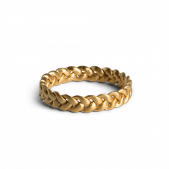 Medium Braided Ring, forgyldt sterlingsølv