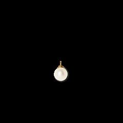 Pearl pendant for creoles, 18 karat guld