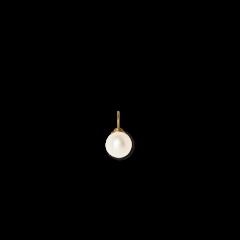 Pearl pendant vedhæng, 18 karat guld