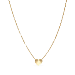 Reflection Heart necklace, forgyldt sterlingsølv