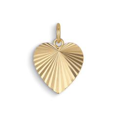 Reflection Heart pendant, forgyldt sterlingsølv