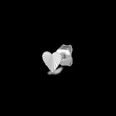 Reflection Stud Heart, sterlingsølv