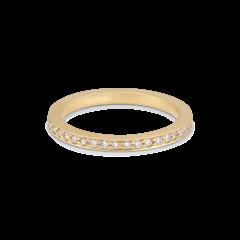 Large alliance ring, 18 karat guld, 0,01 ct diamter