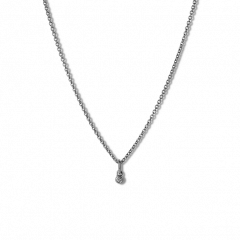 Kombination af Anchor Chain og Diamond Pendant, rhodineret sterlingsølv