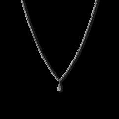 Kombination af Anchor Chain og Diamond Pendant, rhodineret sterlingsølv